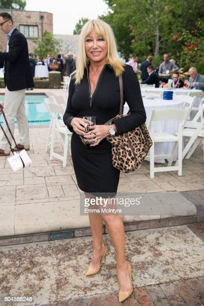Actress Suzanne Somers attends the 150th anniversary of Canada's Confederation at the Official Residence of Canada on June 30 2017 in Los Angeles...