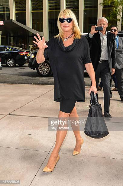 Actress Suzanne Somers enters the Sirius XM Studios on October 14 2014 in New York City
