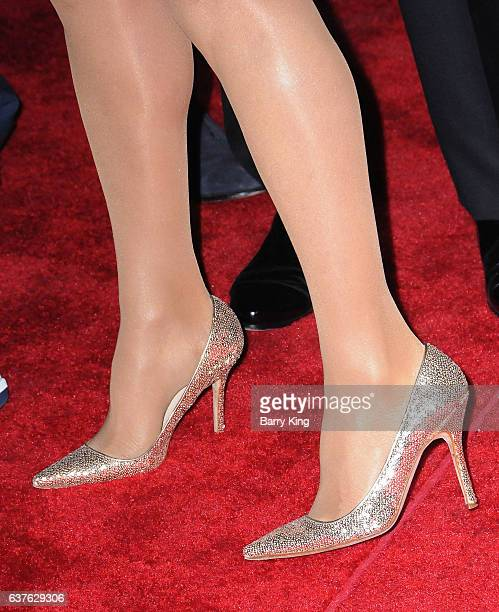 Actress Suzanne Somers shoe detail attends the 28th Annual Palm Springs International Film Festival Film Awards Gala at the Palm Springs Convention...