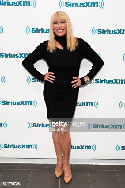 Actress Suzanne Somers visits the SiriusXM Studios on November 15 2017 in New York City