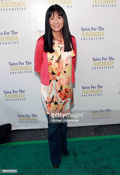 """Actress Suzanne Whang arrives at a benefit hosted by Lily Tomlin to benefit Voice for the Animals Foundation featuring the stars of """"Laugh In"""" at The..."""