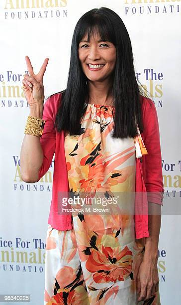 """Actress Suzanne Whang attends the Voice for Animals Foundation's annual benefit with a """"Laugh-In Reunion"""" at the Comedy Store on April 8, 2010 in Los..."""