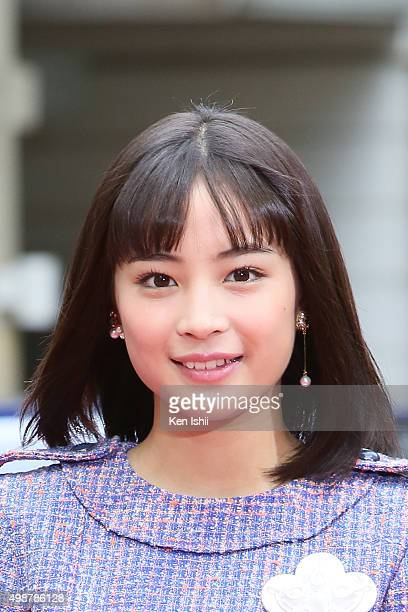 Actress Suzu Hirose attends the VOGUE JAPAN Women of the Year at the Meguro Gajoen on November 26 2015 in Tokyo Japan
