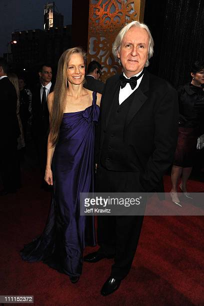 Actress Suzy Amis and director James Cameron arrive at the 15th Annual Critics' Choice Movie Awards held at the Hollywood Palladium on January 15...