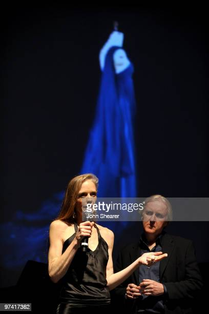 Actress Suzy Amis and director James Cameron attend Global Green USA's 7th Annual PreOscar Party at Avalon on March 3 2010 in Hollywood California