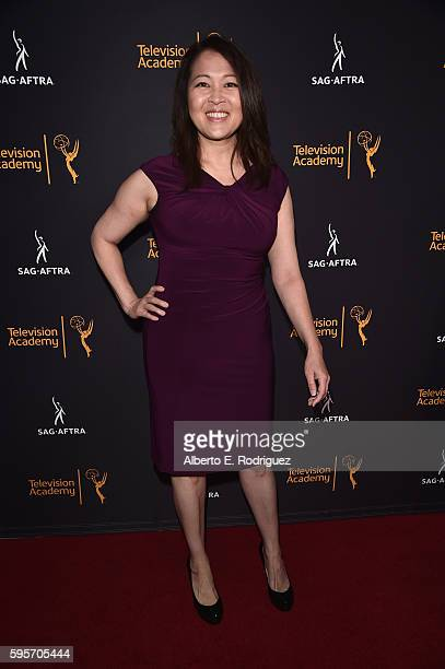 Actress Suzy Nakamura attends the Television Academy And SAGAFTRA's 4th Annual Dynamic and Diverse Celebration at The Saban Media Center on August 25...