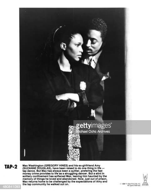 Actress Suzzanne Douglas and actor Gregory Hines in a scene from the movie Tap circa 1989