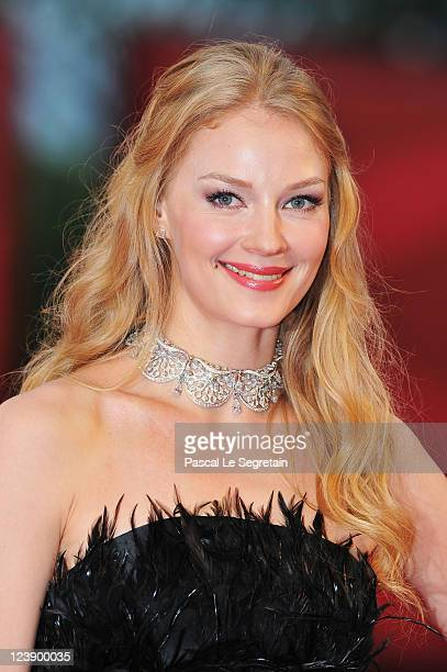 Actress Svetlana Khodchenkova attends the 'Tinker Tailor Soldier Spy' premiere at the Palazzo del Cinema during the 68th Venice Film Festival on...