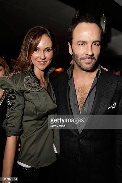 Actress Svetlana Metkina and director Tom Ford attend a cocktail party for 'A Single Man' on January 14 2010 in Beverly Hills California
