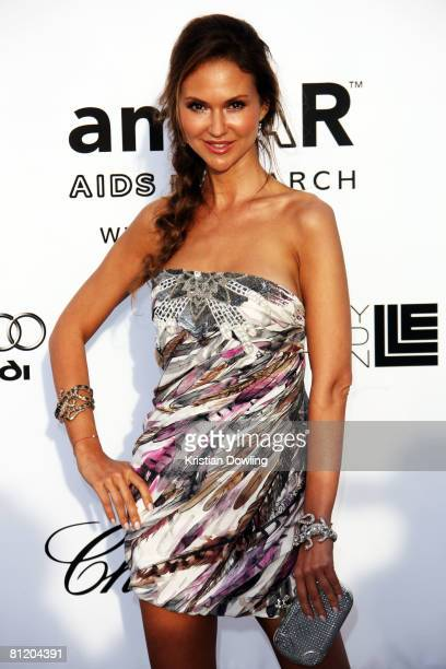 Actress Svetlana Metkina arrives at amfAR's Cinema Against AIDS 2008 benefit held at Le Moulin de Mougins during the 61st International Cannes Film...