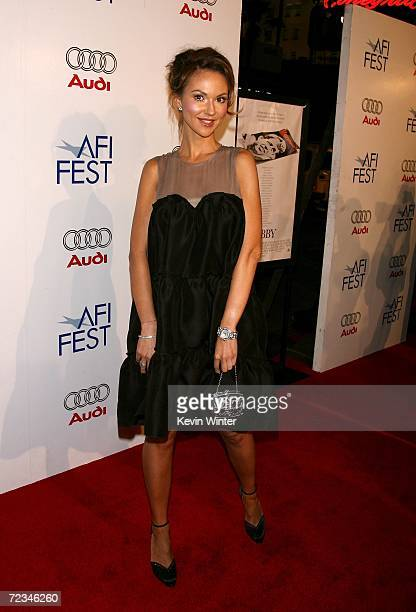 Actress Svetlana Metkina arrives at the AFI FEST presented by Audi opening night gala of 'Bobby' at the Grauman's Chinese Theatre on November 1 2006...