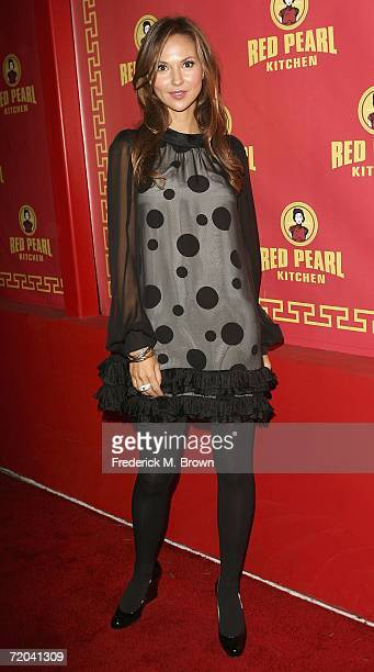 Actress Svetlana Metkina attends the grand opening of the Red Pearl Kitchen Hollywood on September 28 2006 in Hollywood California