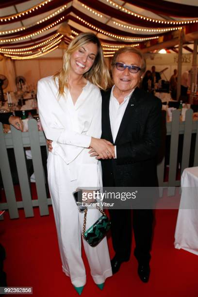 Actress Sveva Alviti and Orlando attend 'La Femme dans le Siecle Waman in the Century' Dinner at Jardin des Tuileries on July 5 2018 in Paris France