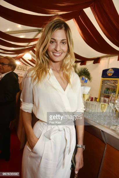 Actress Sveva Alviti Attends 'La Femme Dans Le Siecle' Dinner on July 5 2018 in Paris France