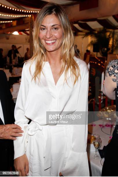 Actress Sveva Alviti attends 'La Femme dans le Siecle Waman in the Century' Dinner at Jardin des Tuileries on July 5 2018 in Paris France