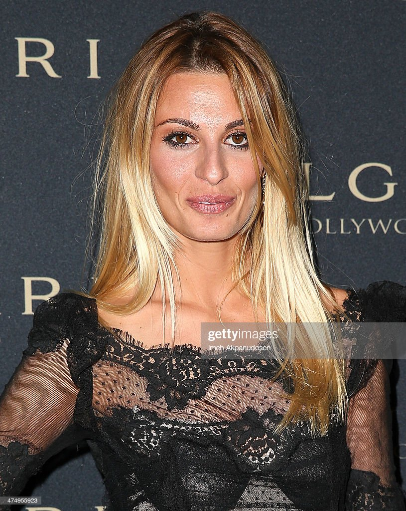Actress Sveva Alviti attends the BVLGARI 'Decades of Glamour' Oscar Party at Soho House on February 25, 2014 in West Hollywood, California.