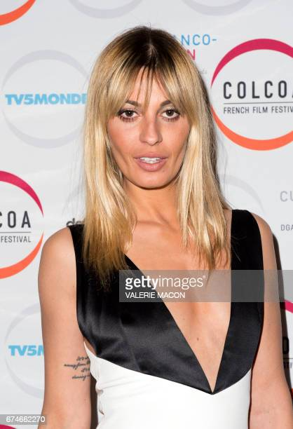 Actress Sveva Alviti attends the Colcoa French Film Festival day 5 on April 28 2017 in Los Angeles California / AFP PHOTO / VALERIE MACON