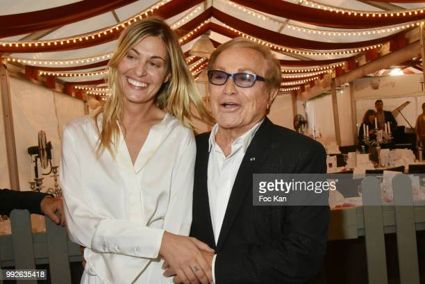 Actress Sveva Alviti who played in movie singer Dalida and producer Orlando brother of singer Dalida attend 'La Femme Dans Le Siecle' Dinner on July...