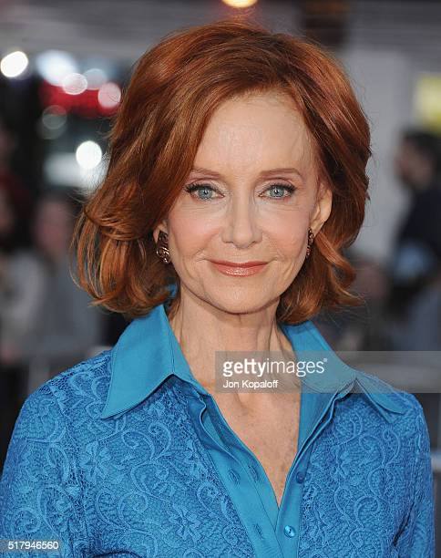 Actress Swoosie Kurtz arrives at the Los Angeles Premiere The Boss at Regency Village Theatre on March 28 2016 in Westwood California