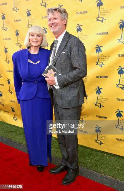 Actress Sybil Danning and Consul General of Germany Stefan Schneider attend the LA Jewish Film Festival Opening Night Gala at Ahrya Fine Arts Theater...