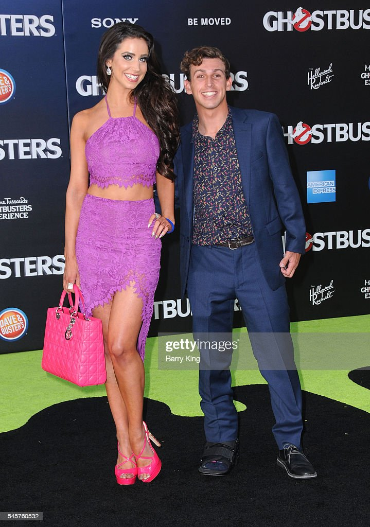 Actress Syd Wilder and snapchat content creator Danny Berk attend the premiere of Sony Pictures' 'Ghostbusters' at TCL Chinese Theatre on July 9, 2016 in Hollywood, California.
