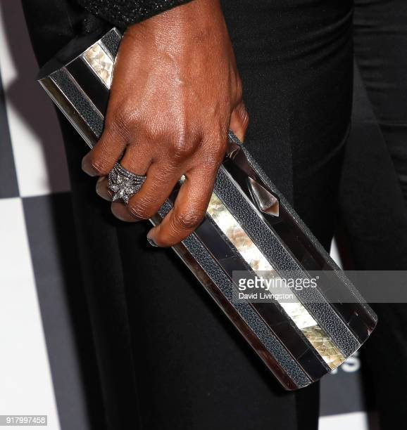 Actress Sydelle Noel purse detail attends the 16th Annual VES Awards at The Beverly Hilton Hotel on February 13 2018 in Beverly Hills California