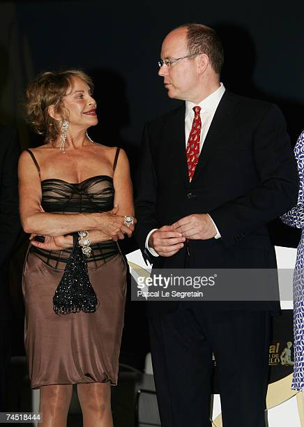 Actress Sydne Rome and Prince Albert II of Monaco attend the opening night of the 2007 Monte Carlo Television Festival held at Grimaldi Forum on June...