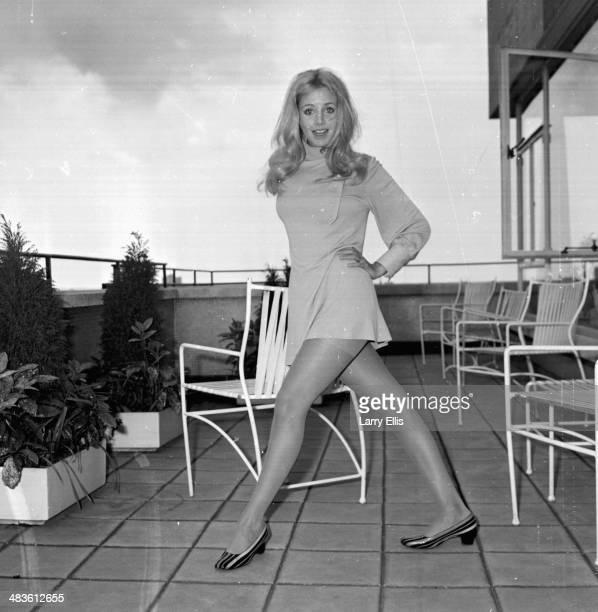 Actress Sydne Rome posing on a balcony 19th May 1968