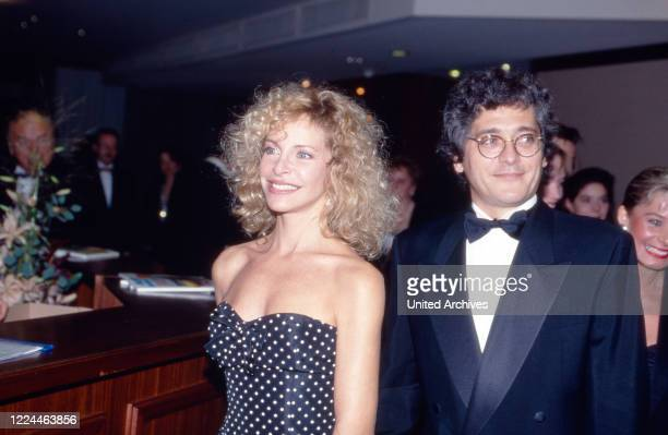 Actress Sydne Rome with husband Roberto Bernabei at the UFA Filmball in Neuss, Germany, 1992.