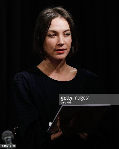 Actress Sydney Lemmon on stage during The Hamptons International Film Festival's Screenplay Reading of Mickey and the Bear at The Actors Company...