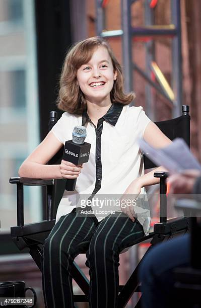 Actress Sydney Lucas attends AOL Build to discuss their extraordinary portrayal of Alison Bechdel in the Tony Awardswinning Broadway Musical Fun Home...