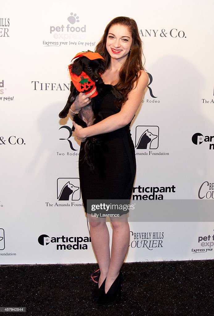 Actress Sydney Meyer attends the Amanda Foundation's 2014 Bow Wow Beverly Hills Halloween Rodeo Drive 'Night Of The Living Dog!' Event at Via Rodeo at Two Rodeo Drive on October 26, 2014 in Beverly Hills, California.