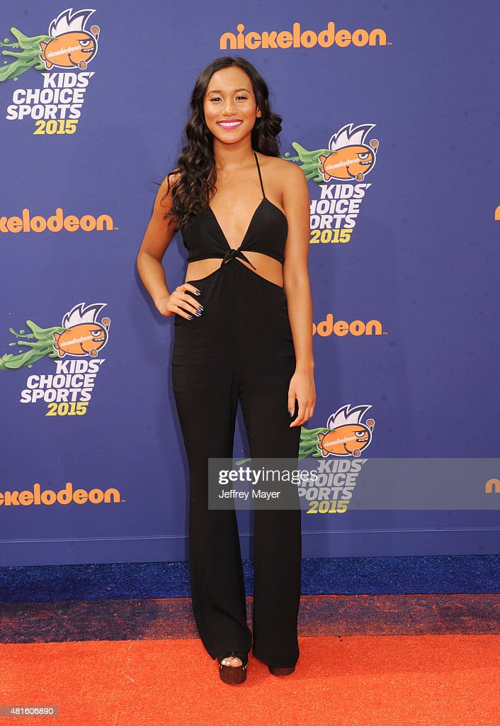 Actress Sydney Park arrives at the Nickelodeon Kids' Choice Sports Awards 2015 at UCLA's Pauley Pavilion on July 16, 2015 in Westwood, California.