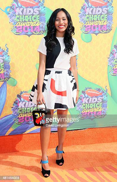 Actress Sydney Park attends Nickelodeon's 27th Annual Kids' Choice Awards at USC Galen Center on March 29 2014 in Los Angeles California