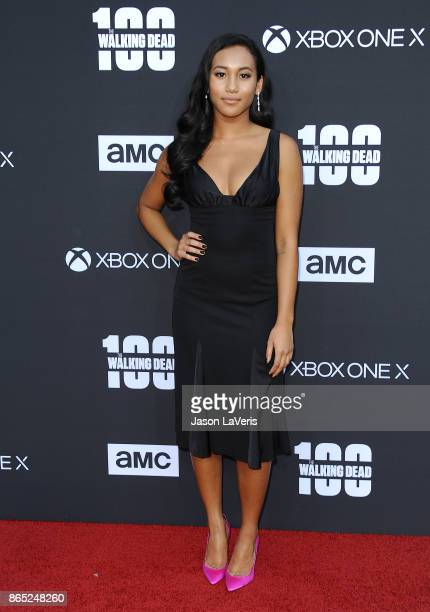 Actress Sydney Park attends the 100th episode celebration off 'The Walking Dead' at The Greek Theatre on October 22 2017 in Los Angeles California