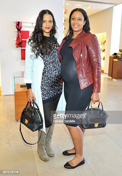 Actress Sydney Tamiia Poitier and director Anika Poitier attend Ferragamo Shopping Event with Jacqui Getty benefitting Baby2Baby at the Ferragamo...