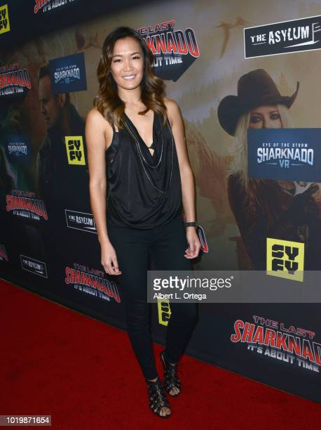 Actress Sydney Viengluang arrives for the Premiere Of The Asylum And Syfy's 'The Last Sharknado It's About Time' held at Cinemark Playa Vista on...