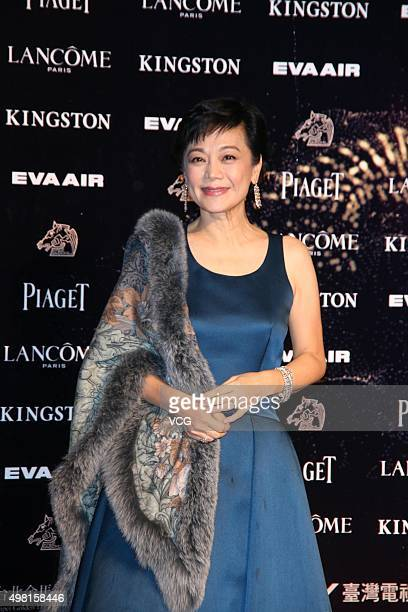 Actress Sylvia Chang attends awards ceremony of the 52th Golden Horse Film Awards at National Dr. Sun Yat-sen Memorial Hall on November 21, 2015 in...