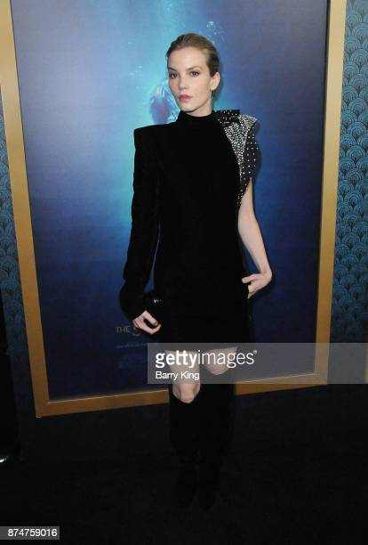 Actress Sylvia Hoeks attends the premiere of Fox Searchlight Pictures' 'The Shape Of Water' at Academy Of Motion Picture Arts And Sciences on...
