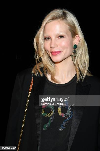 Actress Sylvia Hoeks attends the Saint Laurent show as part of the Paris Fashion Week Womenswear Fall/Winter 2018/2019 on February 27 2018 in Paris...