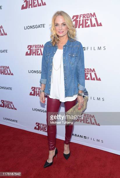 """Actress Sylvia Jefferies and Pancho Moler attend a special screening of Lionsgate's """"3 From Hell"""" at the Vista Theatre on September 16, 2019 in Los..."""