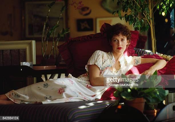 Actress Sylvia Kristel at Home in LA
