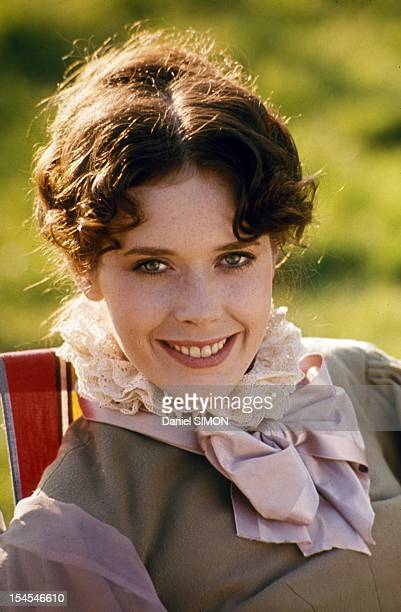Actress Sylvia Kristel on set of movie Une Femme Fidele directed by Roger Vadim in March 1976 in France