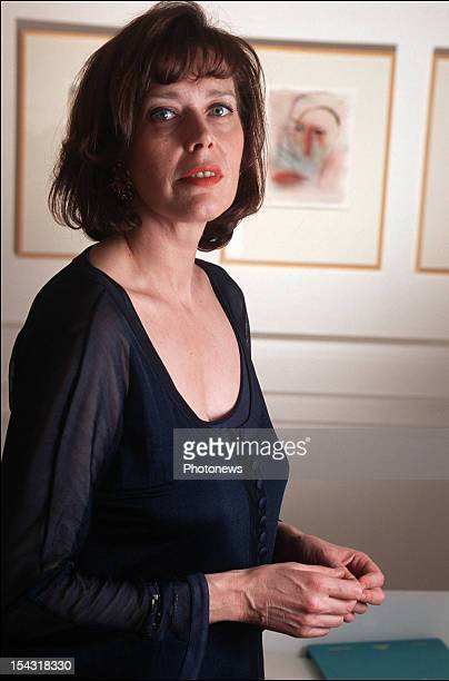 Actress Sylvia Kristel pictured during an interview on February 14 1995 in Brussels Belgium
