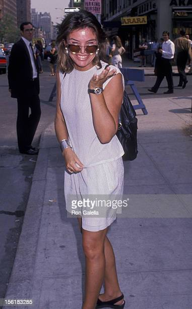 Actress Sylvia Martins attends Steve Rubell Funeral Service on July 27 1989 at Riverside Memorial Chapel in New York City