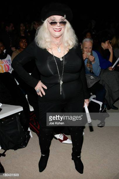 Actress Sylvia Miles attends Academy of Art University Fall 2008 during Mercedes-Benz Fashion Week at Bryant Park on February 2, 2008 in New York City