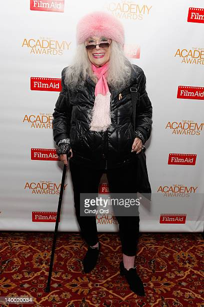 Actress Sylvia Miles attends the 2012 Academy of Motion Picture Arts and Sciences Oscar Night Celebration at the 21 Club on February 26, 2012 in New...