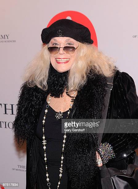 Actress Sylvia Miles attends the Academy of Motion Picture Arts Sciences New York Oscar night party at GILT at The New York Palace Hotel on March 7...