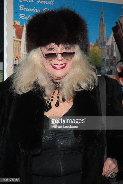 """Actress Sylvia Miles attends the premiere Of """"In Bruges"""" at the IFC Center in New York City on February 4, 2008."""
