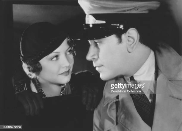 """Actress Sylvia Sidney and George Raft in a scene from the movie """"Pick-Up"""""""